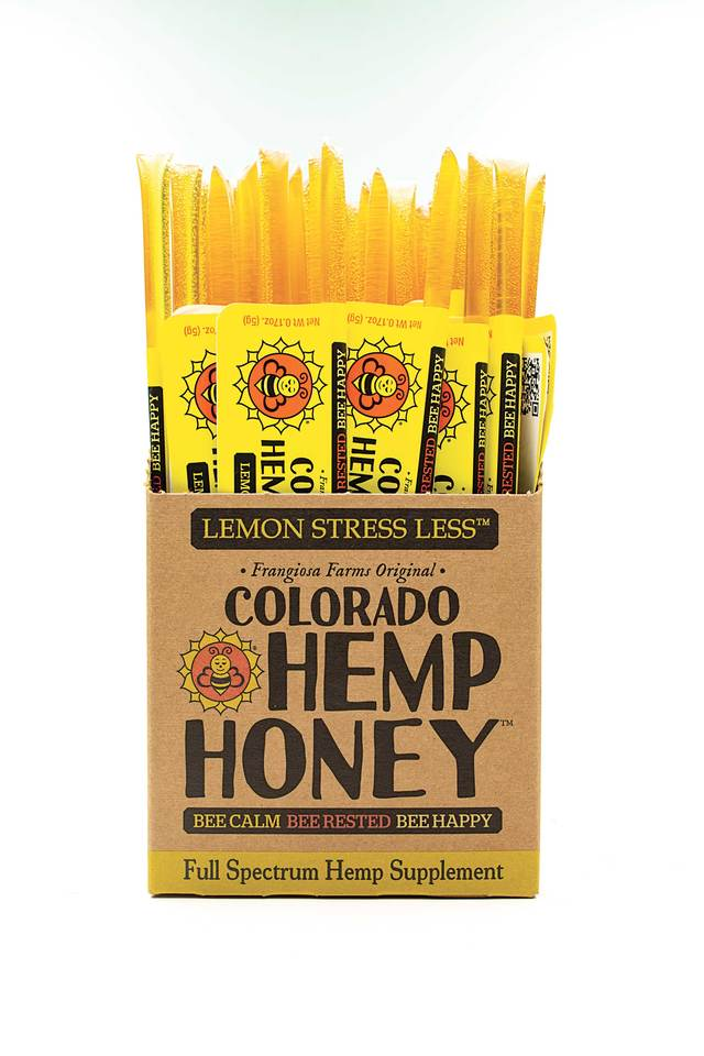 Colorado Honey Lemon Stress Less Full Spectrum Extract Sticks, 100-count (1500-mg)