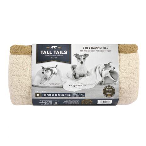 Tall Tails Dog Bed & Blanket Set, Tan, Medium