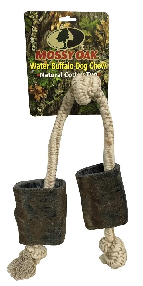 QT Dog Mossy Oak Water Buffalo Chew & Rope Dog Toy, 24-in