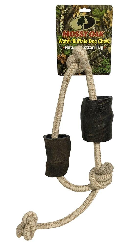 QT Dog Mossy Oak Water Buffalo Chew & Rope Dog Toy, 34-in