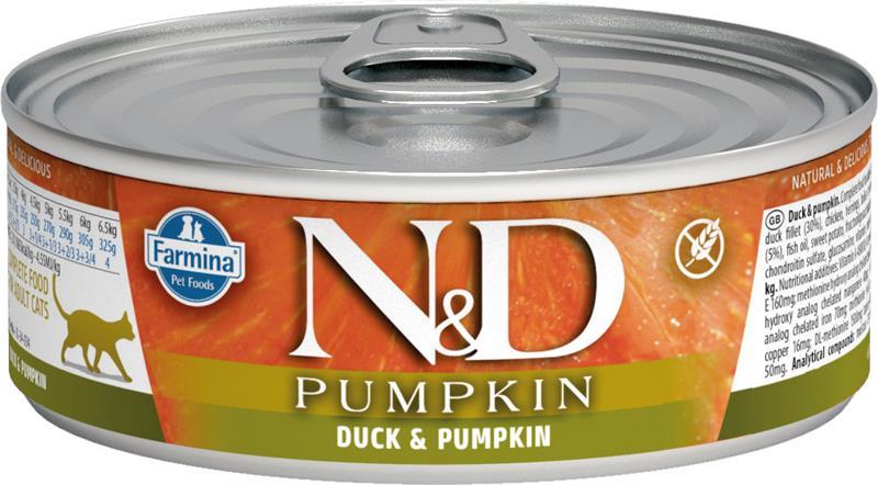 Farmina Natural & Delicious Pumpkin Duck & Cantaloupe Feline Formula Wet Food, 2.8-oz
