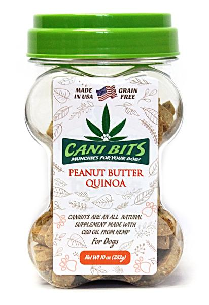Cani Bits Peanut Butter with Quinoa Dog Treats, 10-oz