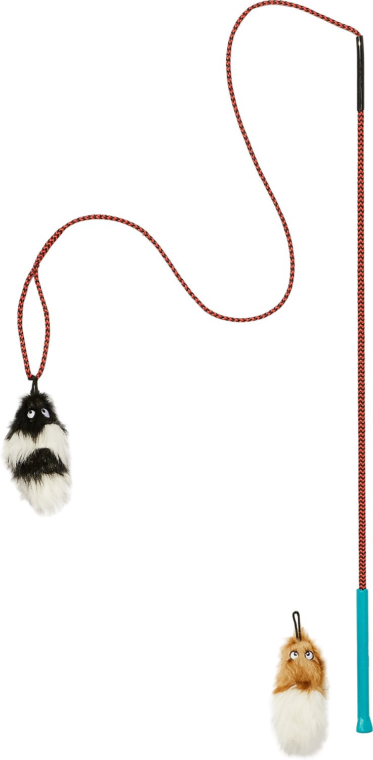 Outward Hound Tail Teaser with Refill Pet Toy, Tail Teaser with Refill