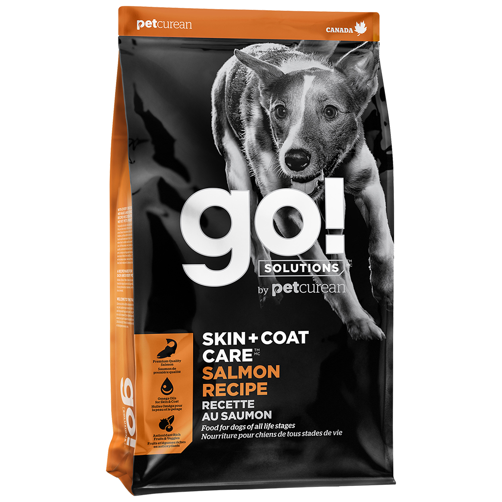 Petcurean Dog Go! Solutions Skin & Coat Care Salmon Recipe Dry Dog Food, 3.5-lb