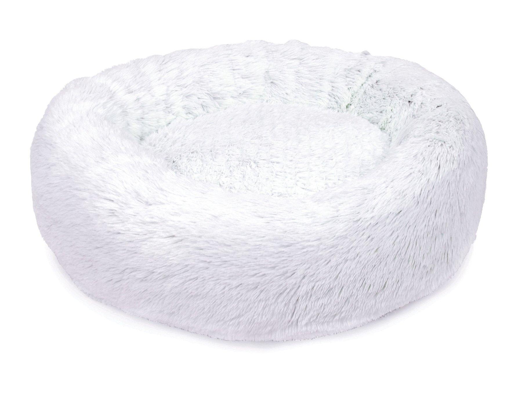 Jax and Bones Arctic Shag Donut Dog Bed, Small