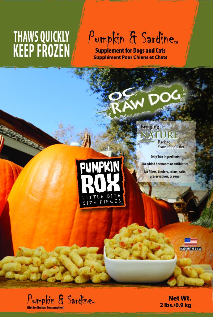 OC Raw Dog Pumpkin & Sardine Rox Dog & Cat Supplement, 2-lb