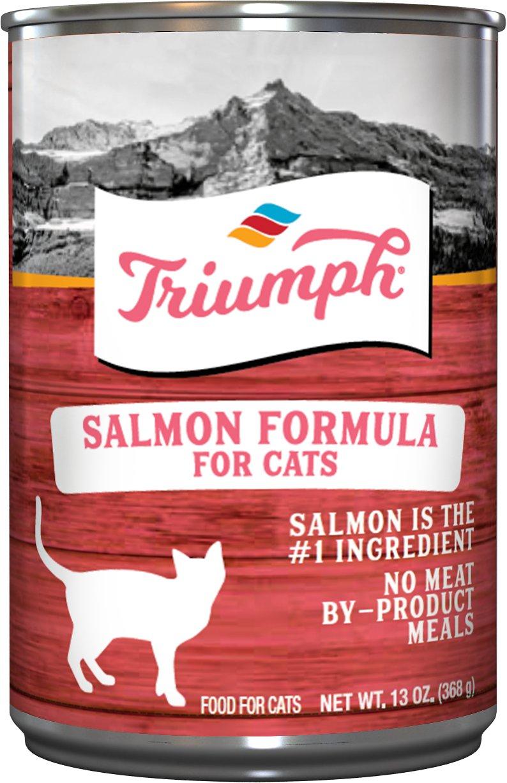 Triumph Salmon Formula Canned Cat Food, 5.5-oz