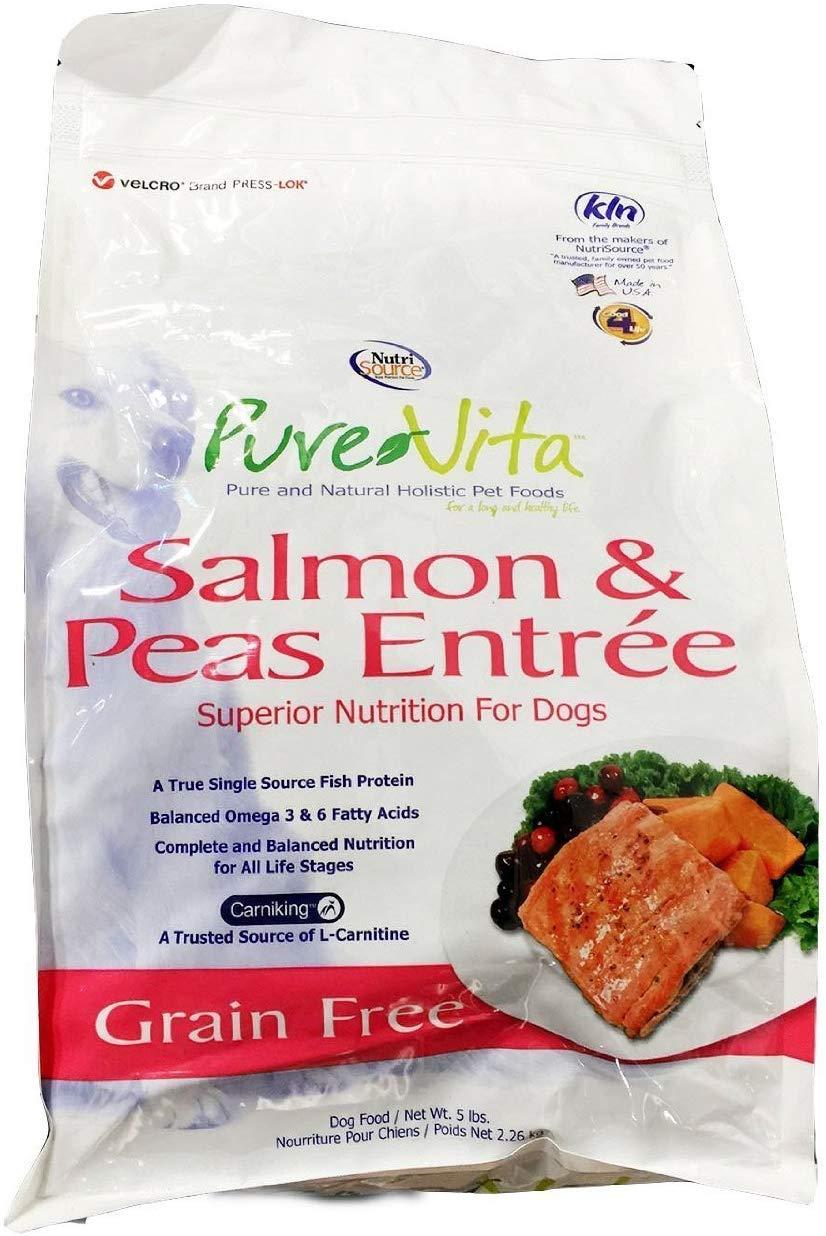 PureVita Grain Free Salmon & Peas Formula Dry Dog Food, 15-lb