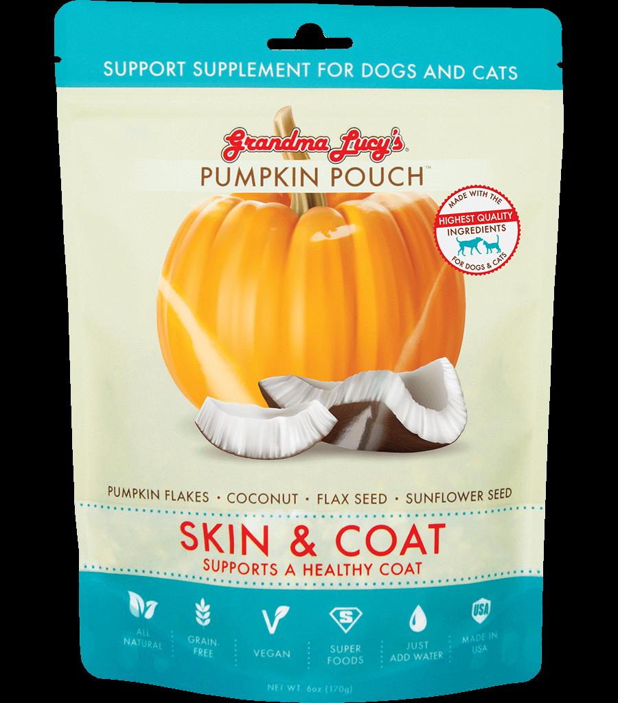 Grandma Lucy's Pumpkin Pouch Skin & Coat Dog & Cat Supplement, 6-oz