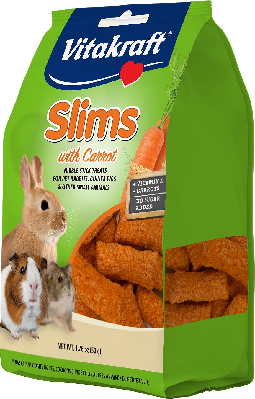 Vitakraft Slims with Carrot Rabbit Treats, 1.76-oz bag