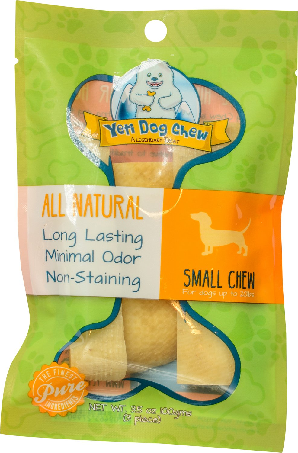 Yeti Dog Chew Small Himalayan Cheese Packaged Dog Treats, 3-count