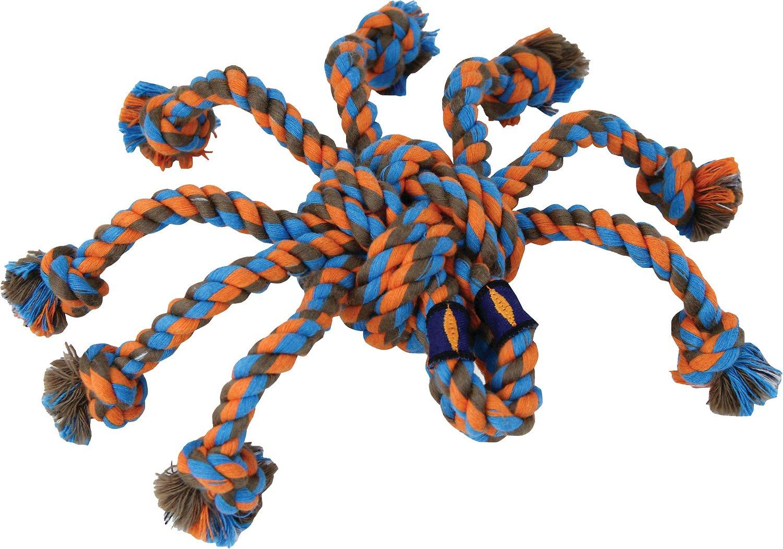 Mammoth SnakeBiter Spider Rope Dog Toy, Color Varies, Medium