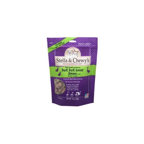 Stella & Chewy's Duck Duck Goose Dinner Freeze-Dried Cat Food, 0.8-oz