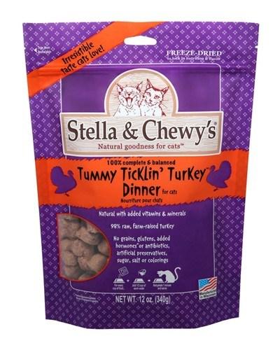 Stella & Chewy's Tummy Ticklin' Turkey Dinner Freeze-Dried Cat Food, 12-oz