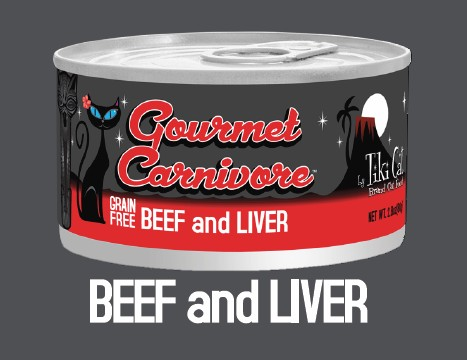 Tiki Cat Gourmet Carnivore Beef & Liver Grain-Free Canned Cat Food