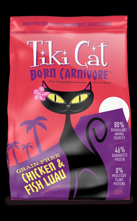Tiki Cat Born Carnivore Chicken & Fish Luau Dry Cat Food, 2.8-lb