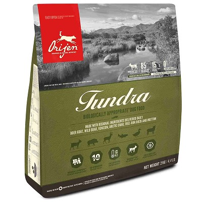 ORIJEN Grain Free Tundra Adult Dry Dog Food, 4.4-lb