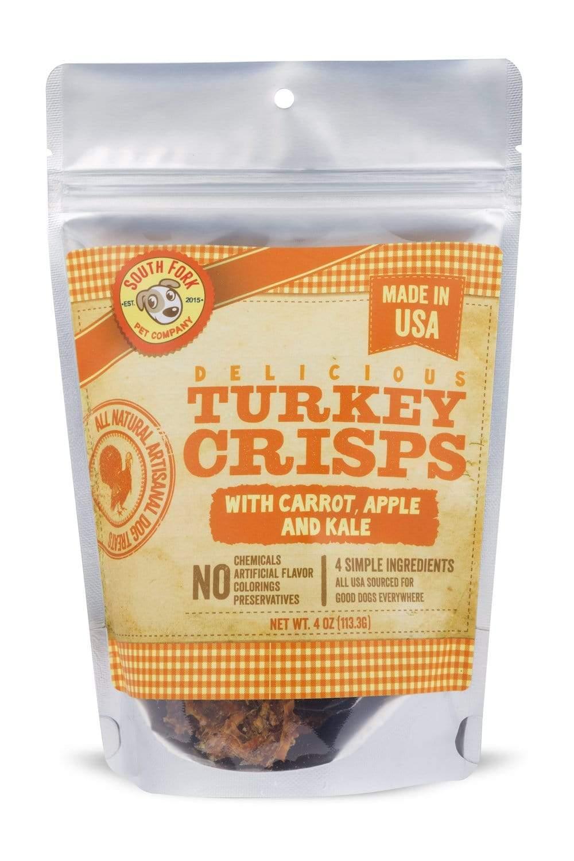 South Fork Turkey Crisps with Carrot, Apple & Kale Dog Treats, 4-oz
