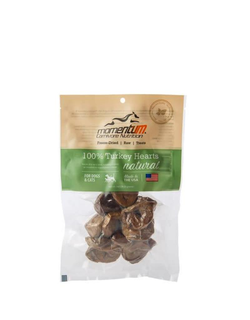Momentum Freeze-Dried Turkey Hearts for Dogs & Cats, 1-oz bag