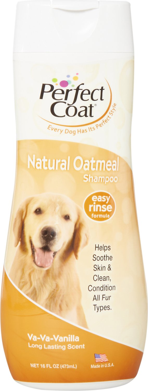 Perfect Coat Natural Oatmeal French Vanilla Dog Shampoo, 16-oz