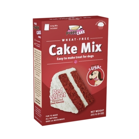 Puppy Cake Cake Mix Red Velvet Flavored Dog Treats, 9-oz