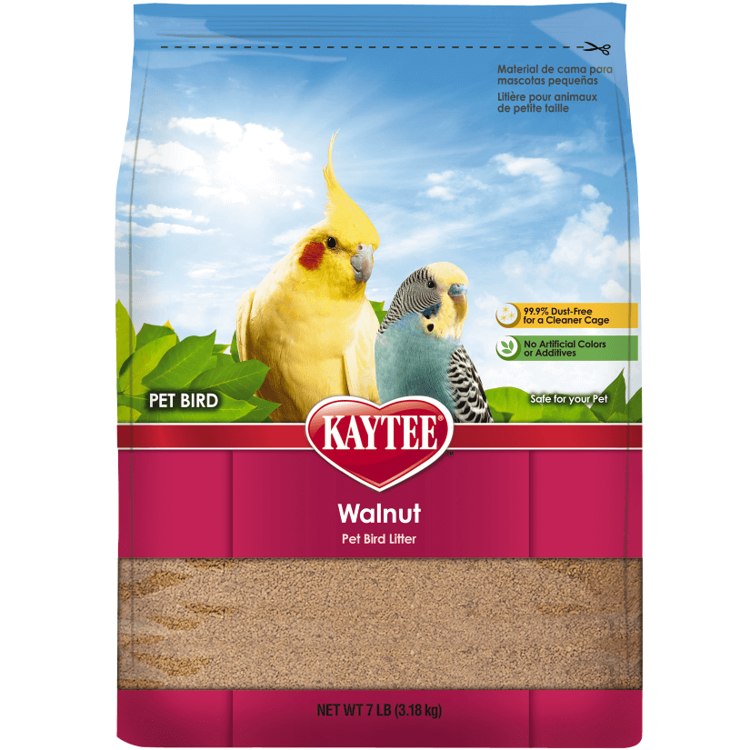 Kaytee Walnut Natural Bird Litter, 7-lb bag