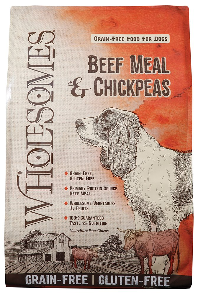 SPORTMiX Wholesomes Beef Meal & Chickpea Formula Grain-Free Dry Dog Food, 35-lb bag