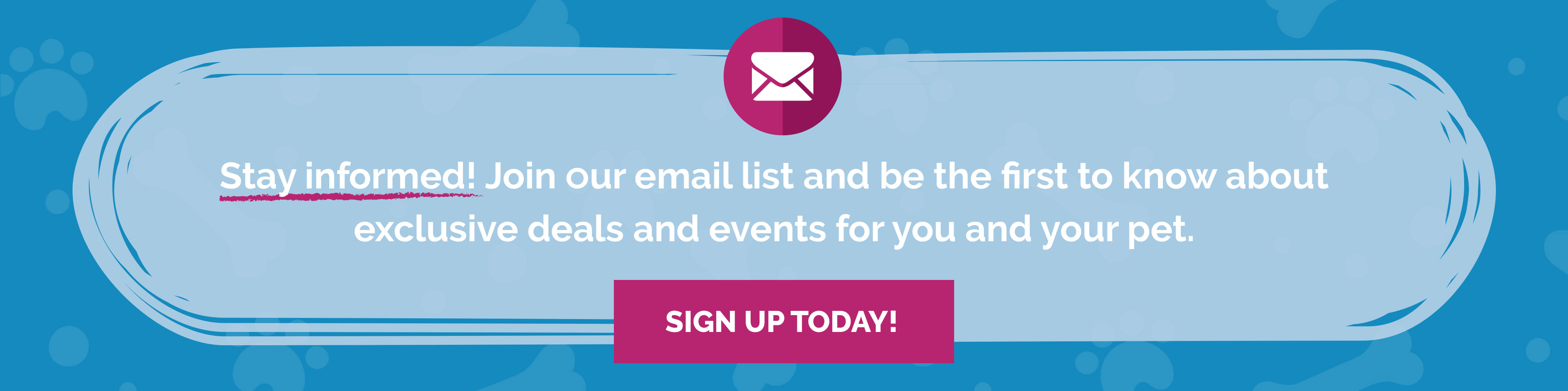 Sign up for the Rumford Pet Email List