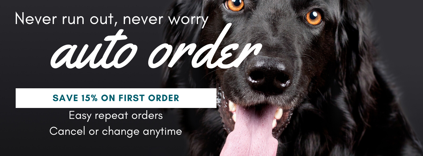 Save 15 percent on first order when you sign up for auto order, easy repeat order, cancel anytime